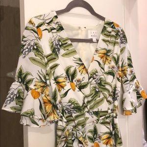 Lost + Wander tropical patterned sundress